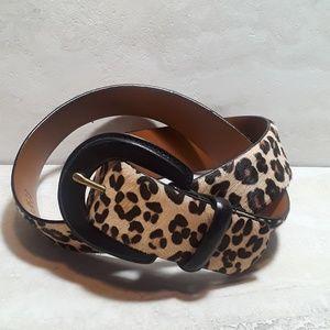 Lauren Ralph Lauren animal print leather belt
